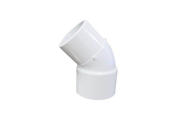 "1.5"" 135 Degree PVC Elbow Fittings ,  Polished Elbow Pipe Fittings"